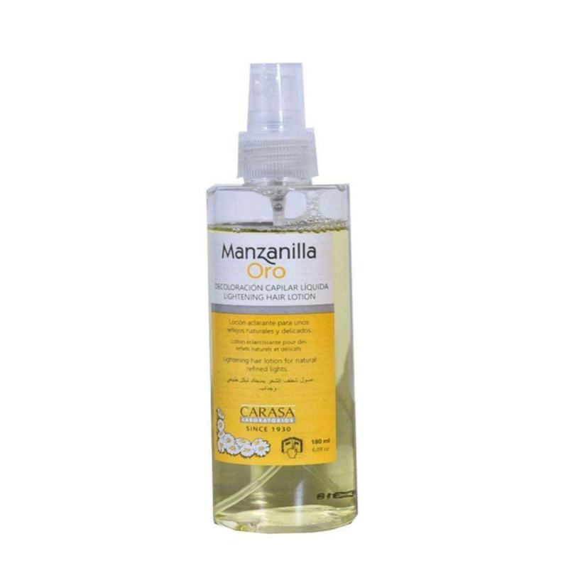 Manzanilla Oro Lightening Hair Lotion With Chamomile Extract Yellow 180 m