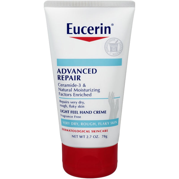 Eucerin, Advanced Repair Hand Cream, Fragrance Free, 2.7 oz (78 g)