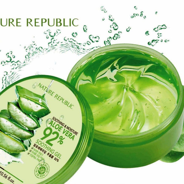 Nature Republic، جل ملطف ومرطّب للصبار 92٪ ، 10.56 أونصة سائلة (300 مل)