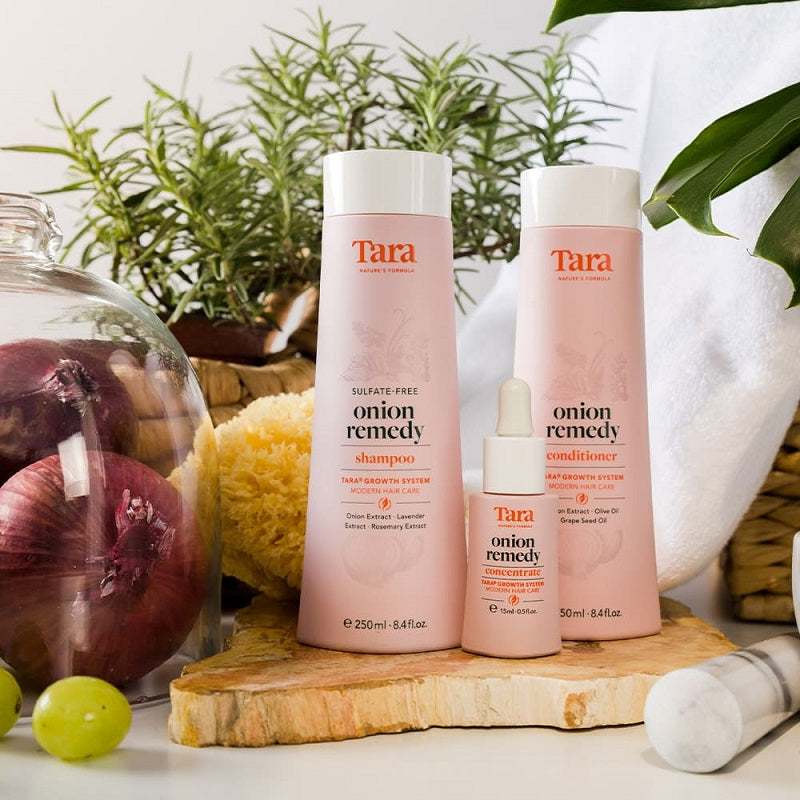 Tara Nature's Formula Onion Remedy Hair + Root Revival System (3 pc set)