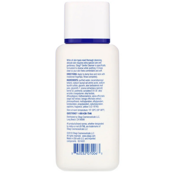 Obagi Nu-Derm, Gentle Cleanser, 6.7 fl oz (198 ml)
