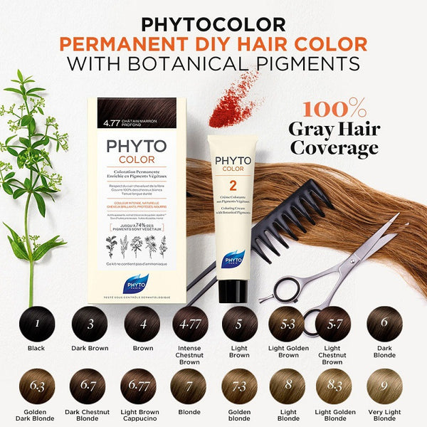 Phyto PhytoColor Permanent Color (4.77 Deep Brown Chestnut)