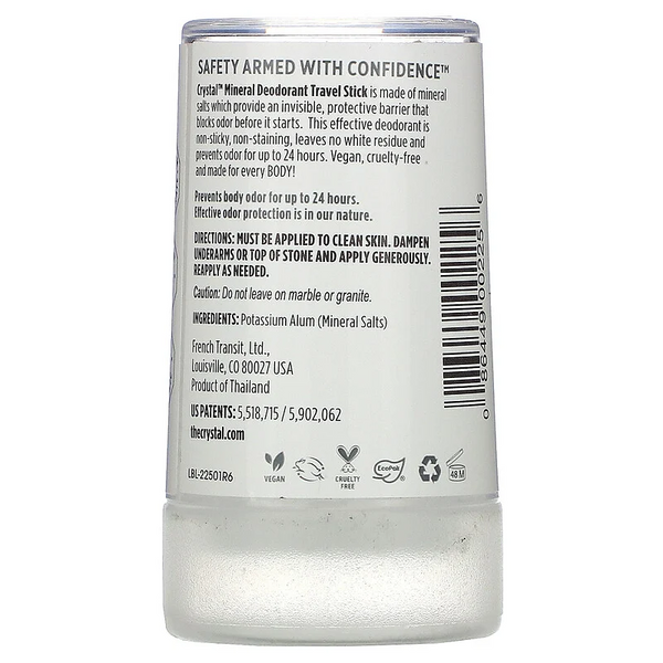 Crystal Body Deodorant, Mineral Deodorant Stick, Unscented, 1.5 oz (40 g)
