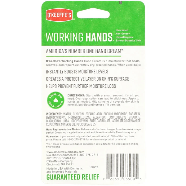 O'Keeffes Working Hands, Hand Cream, 3.4 oz (96 g)