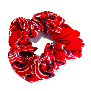 Bandana Scrunchie - Red