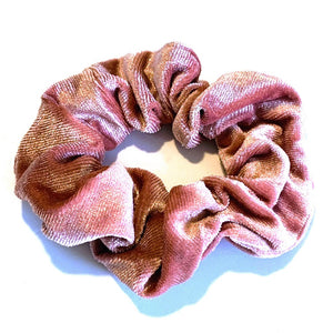 Large Velvet Scrunchie - Blush Pink