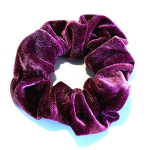 Large Velvet Scrunchie - Purple