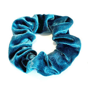 Large Velvet Scrunchie - Teal
