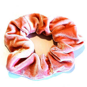 Large Velvet Scrunchie - Nude