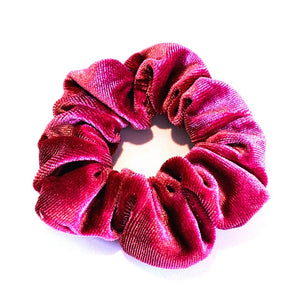 Large Velvet Scrunchie - Pink