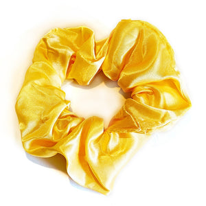 Satin Scrunchie - Yellow