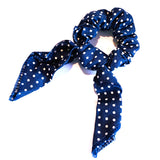 Polka Dot Scrunchie - Navy
