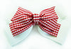 Large Stacked Gingham Hair Clip
