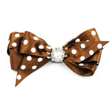 Sophia Polka Dot Hair Clip - Brown