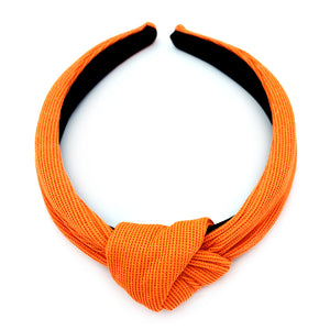 Neon Glitter Knotted Alice Band - Orange