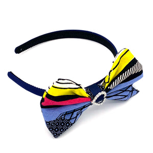 Ankara Alice band - Blue & Yellow