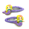 Mermaid Snap Hair Clips - Lilac