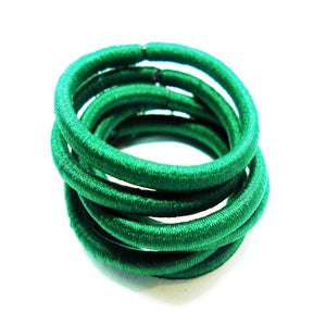 Hunter Green Hair Bobbles - 6 pack