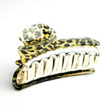Leopard Print Hair Claw - Brown