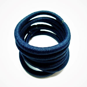 Navy Hair Bobbles - 6 pack