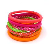 Neon Brights Hair Elastics: 8 pack