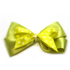Large Annabel Stacked Polka Dot Hair Bow - Yellow & Lime