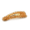 Large Glass Bead Clip - Gold