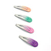 Pastel Snap Hair Clips - 4 pack