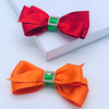 Red & Orange ColourPop Hair Bow Clips - 2 pack