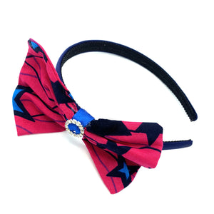 Ankara Alice band - Pink & Blue