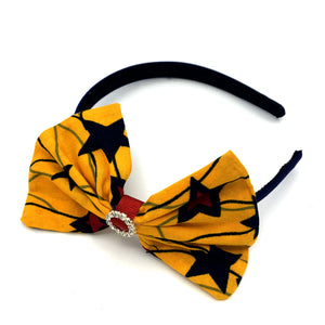 Ankara Alice band - Yellow & Red