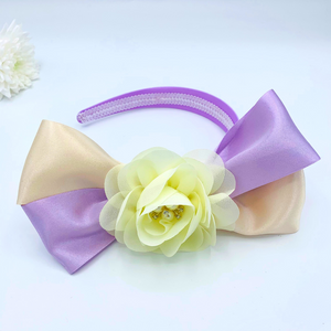 Lilac & Cream Floral Alice band