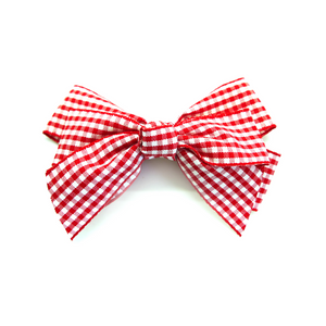 Small Knotted Gingham Hair Bow