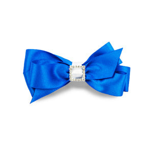 Priscilla Satin Hair Bow - Royal Blue