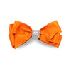 Priscilla Satin Hair Bow - Orange