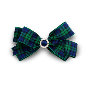 Pretty and traditional tartan hair bow made from quality ribbon, a sure favourite and currently on-trend.