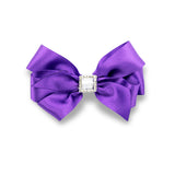 Classic and cute hand-crafted hair bow made from quality grosgrain ribbon should add the perfect touch to any outfit.