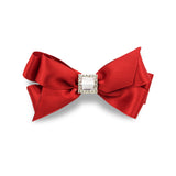 Elegant and stylish hand-crafted hair bow made from quality satin ribbon with an uncovered alligator clip. This luxurious satin hair bow will add pizazz to any outfit.