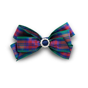 Pretty and traditional Lindsay tartan hair bow made from quality ribbon, a sure favourite and currently on-trend.
