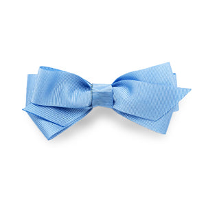 Melissa Grosgrain Hair Bow Clip - Light Blue