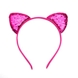 Sequin Cat Ears - Hot Pink