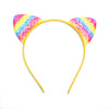 Rainbow Glitter Cat Ears - Yellow