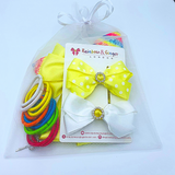Yellow & White Gift Set