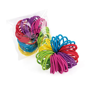 Rainbow Hair Bobbles - pack of 50