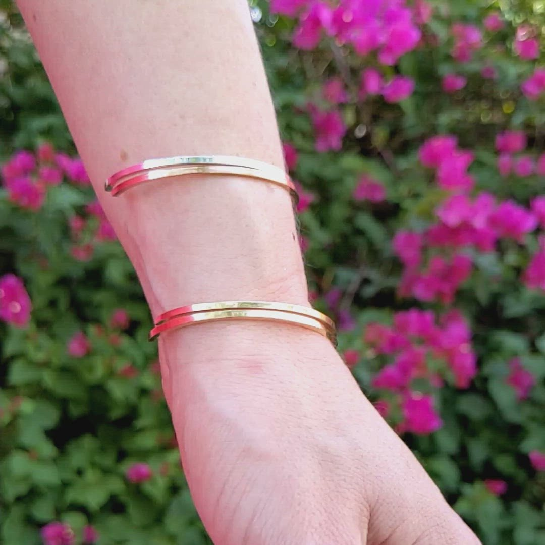 Rose Gold Twist Cuff Bracelet