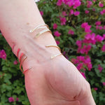 Load and play video in Gallery viewer, Thin 14K Rose Gold Cuff