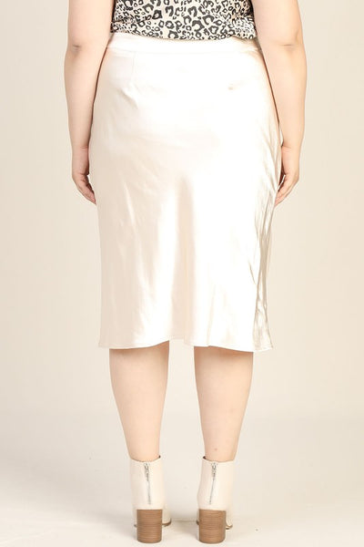 Satin Elastic Slip Skirt