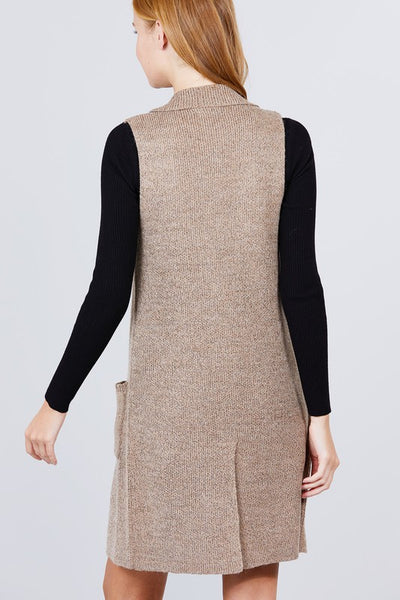Knit Sweater Vest- Plus