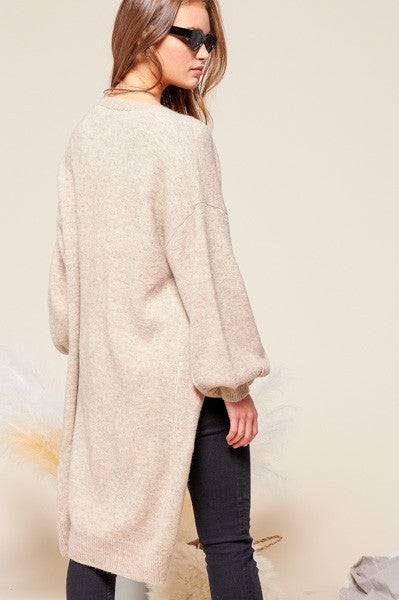 Renee Balloon Sleeve Cardigan