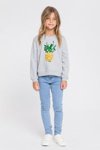 Girls Sequin Pineapple Sweater by English Factory Kids